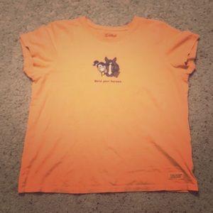 Pale orange Life Is Good T-shirt